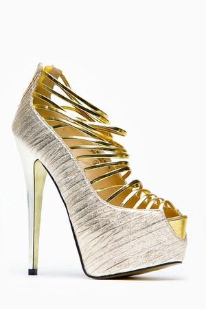 gold cicihot heels