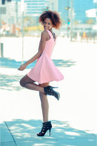 pink zig zag skater cicihot dress
