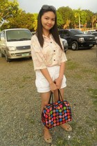 sisidlan bag - off white tiangge shorts - Crocs flats - button down alyanna top