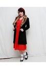Red-vintage-dress-black-mossimo-heels