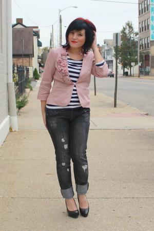 pink elle blazer - black Charlotte Russe heels