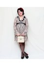 Tan-stefanel-dress-camel-vintage-bag-black-collin-stewart-heels