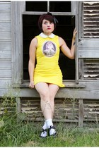 yellow Sheinside dress - black Hot Topic shoes