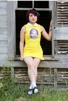 yellow Sheinside dress - black Hot Topic shoes