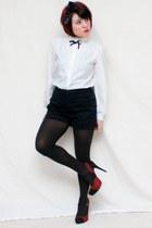 Vtg blouse - Old Navy shorts - Charlotte Russe heels