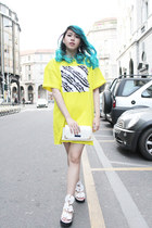 yellow cotton Opening Ceremony dress
