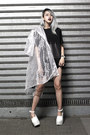 White-see-through-vera-hailie-blazer-black-cotton-alexander-wang-x-h-m-t-shirt