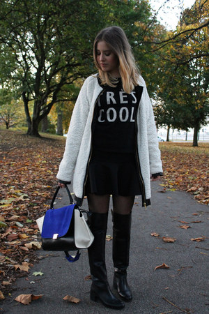 Zara boots - H&M Trend skirt - Campus by Marc OPolo jumper