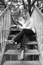 Bershka jacket - Promod pants - Primark sandals