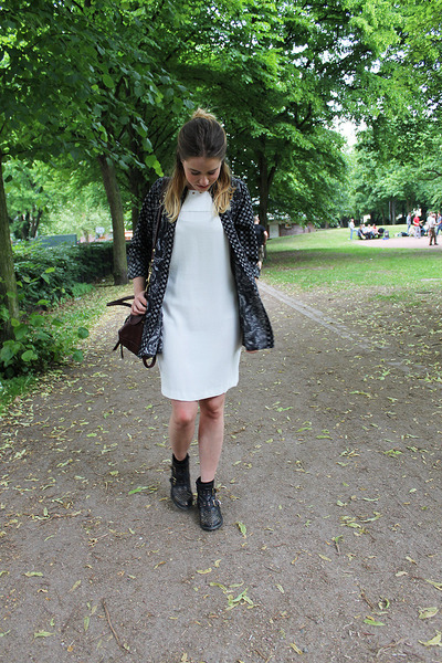 zalando boots - Zara dress - H&M shirt