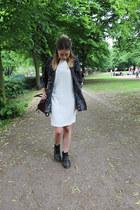 zalando boots - Zara dress - H&M shirt