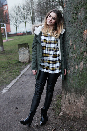 2two jacket - asos boots - Bershka shirt - Zara pants