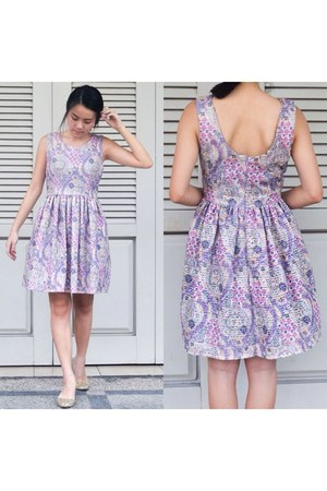periwinkle cotton dress