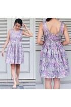 periwinkle cotton dress