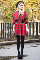 vintage plaid skirt suit