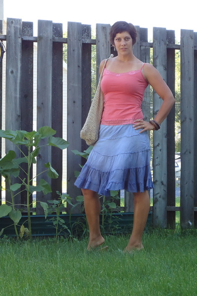 40ef24e7e87 orange Mexx top - blue Giant Tiger skirt - brown Hand Made accessories -  brown g