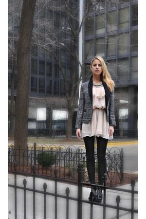 summer dress H&M dress - Bakers shoes - tweed Zara blazer
