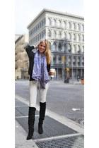 TJ Maxx boots - snakeskin print Zara scarf - Zara top