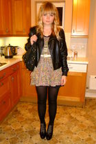 black Miss Selfirdge jacket - Topshop dress