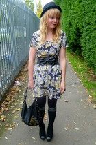 black asos dress - black asos belt - black next purse - black Miss Selfridge jac