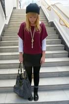 magenta Tu at Sainsburys sweater - white next top - black Topshop  Thrifted skir