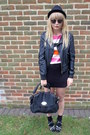 Black-faux-leather-miss-selfridge-jacket-black-next-bag