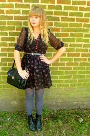 black M Butterfly dress