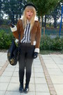 Black-faux-leather-h-m-pants-tawny-forever-21-jacket