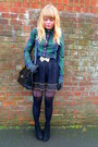 Forest-green-levis-shirt-black-topshop-tights-black-jane-shilton-vintage-pur
