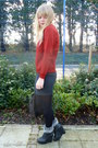 Dark-brown-vintage-bag-black-dahlia-jacket-red-cotton-fields-vintage-sweater