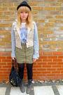Beige-topshop-jacket-topshop-top-green-h-m-skirt-gray-matalan-boots-blac