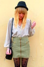 Black-vintage-jane-shilton-bag-dark-khaki-h-m-skirt-beige-vintage-blouse