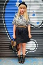 next bag - H&M skirt - vintage belt - vintage top