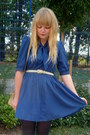 Navy-topshop-shoes-blue-dahlia-dress-pink-vintage-blazer