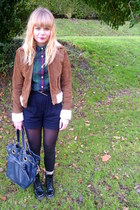 tawny Forever 21 jacket - green Levis shirt - navy River Island shorts - black E