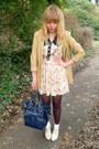 Cream-dahlia-dress-camel-leather-vintage-blazer-navy-topshop-bag
