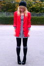 Red-vintage-blazer-h-m-dress-black-love-label-shoes-black-tu-socks-black