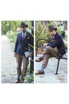 too boot new york shoes - woolrich hat - Zara blazer - J Crew pants