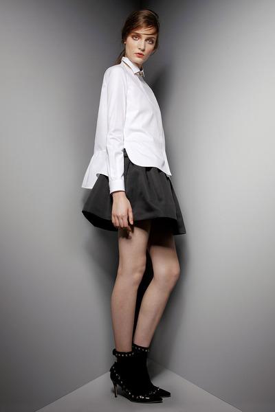 black studded Valentino heels - white Valentino blouse