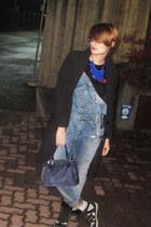 black Zizù La Femme coat - hot pink dungarees pull&bear jeans