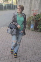 black sammydress bag - boyfriend jeans Zara jeans