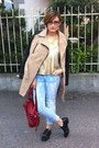 Tosca-blu-shoes-gold-tally-weijl-coat-mustard-skull-punky-fish-jeans