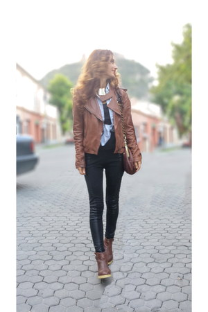 leather Massimo Dutti jacket