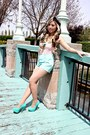 Pink-corset-forever21-shirt-forever21-shorts-hypnotic-pumps