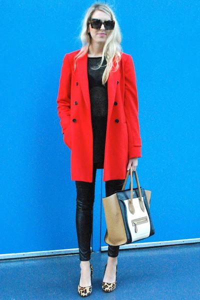 ann taylor coat - faux leather H&M pants