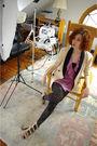Pink-12x12-cardigan-beige-vintage-blazer-black-we-love-colors-tights-beige