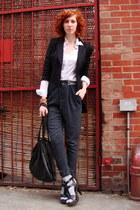 black bird by juicy couture blazer - black intermix bag - gray Heritage 1981 pan