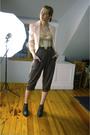 Beige-charlotte-russe-blazer-orange-calvin-klein-shirt-beige-vintage-intimat