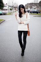 black Forever21 pants - white Gap sweater
