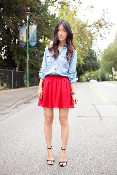 Forever 21 skirt - Mexx shirt - Zara heels
